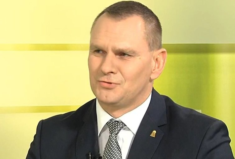 LKF generalinis sekretorius M. Špokas (nuotr. stop kadras)