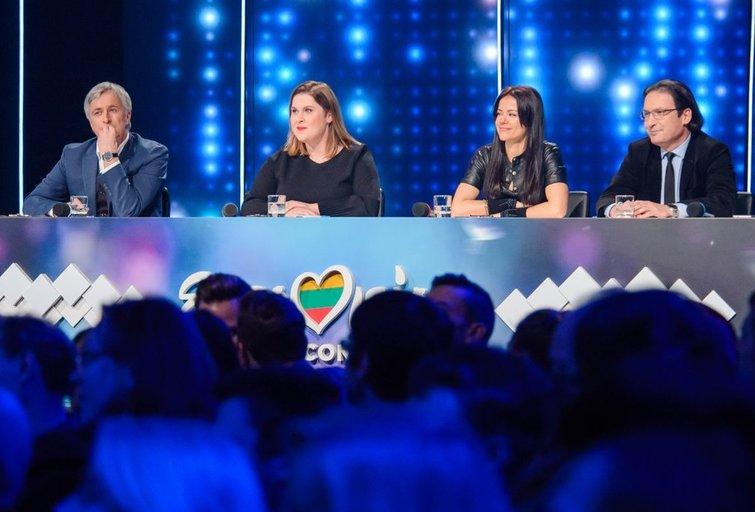 """Pirmasis 2018-ųjų nacionalinės """"Eurovizijos"""" atrankos filmavimas (nuotr. Eimanto Genio)"""