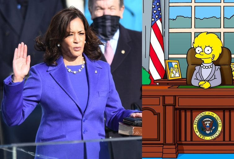 Kamala Harris ir Lisa Simpson (nuotr. Vida Press)