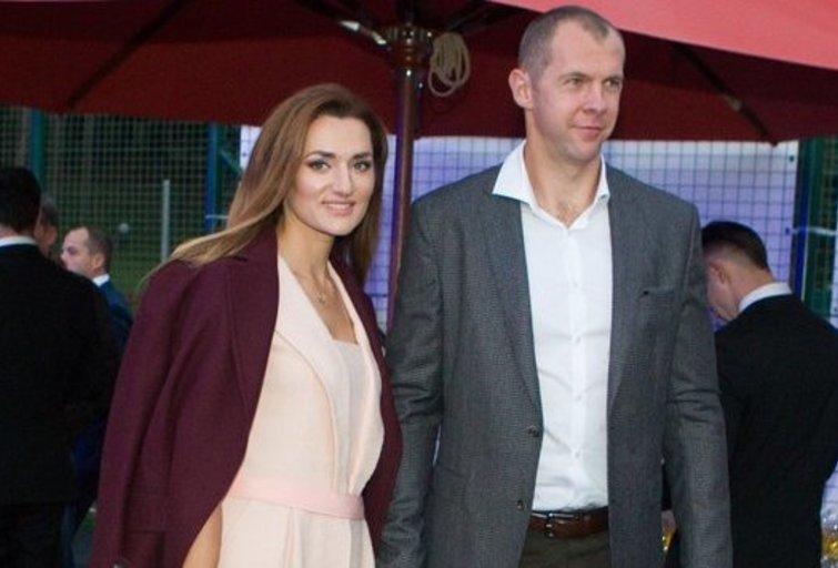 Ramūnas Šiškauskas su žmona (Fotobankas)