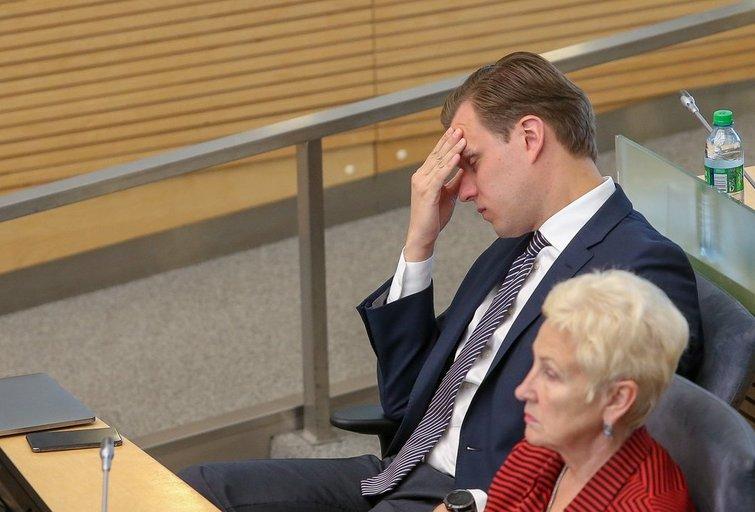 Gabrielius Landsbergis. Irena Degutienė (nuotr. Fotodiena.lt)