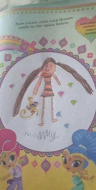 Mažametės dukros piešinys mamą paliko be žado