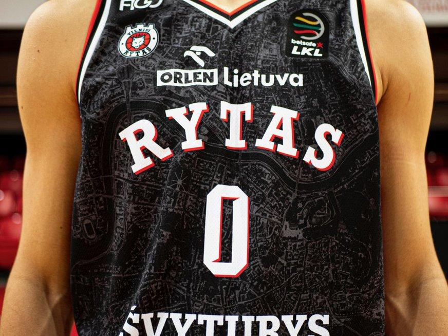 """Komandos Vilniaus """"Rytas"""" naujo dizaino apranga, rytasvilnius.lt nuotr."""