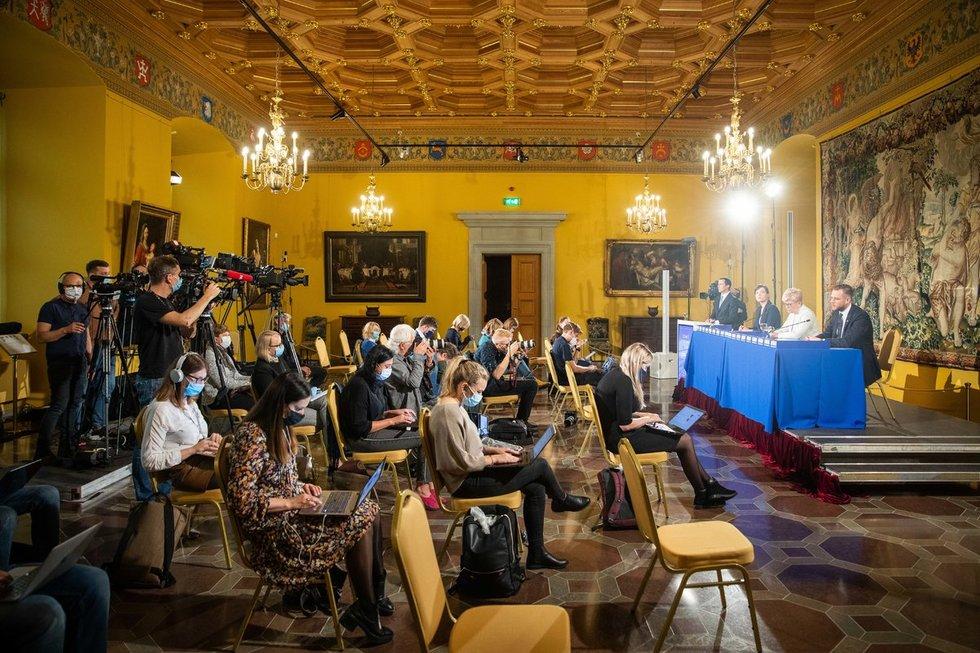 TS–LKD spaudos konferencija po rinkimų