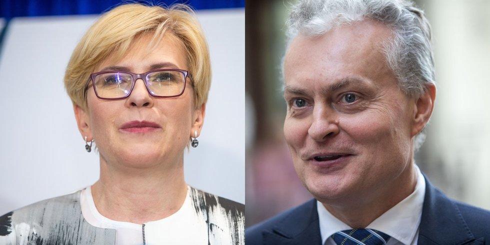 Ingrida Šimonytė ir Gitanas Nausėda (tv3.lt/fotodiena.lt koliažas)