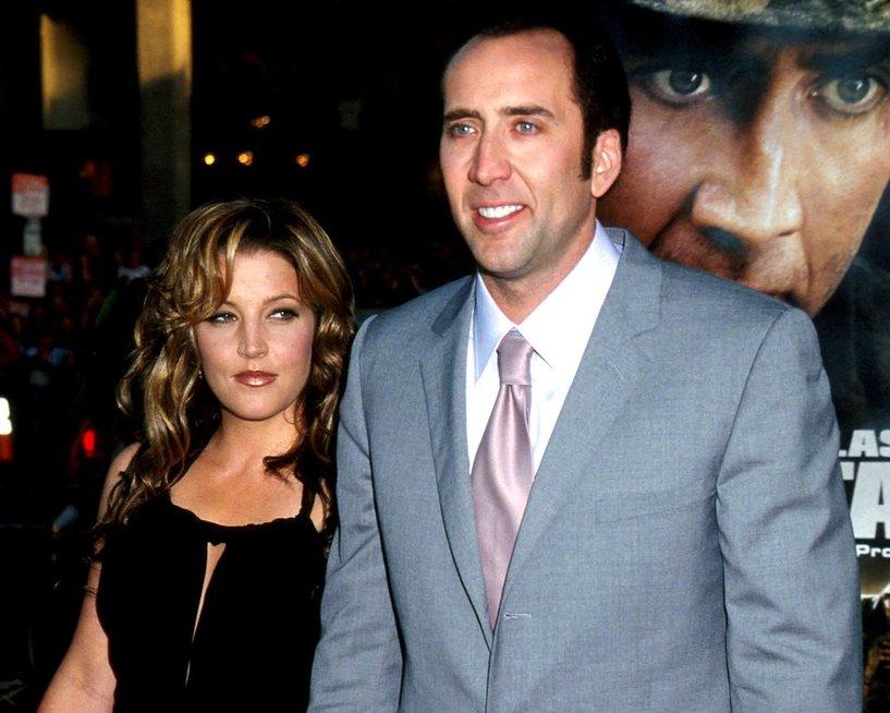 Nicolas Cage ir Lisa Marie Presley