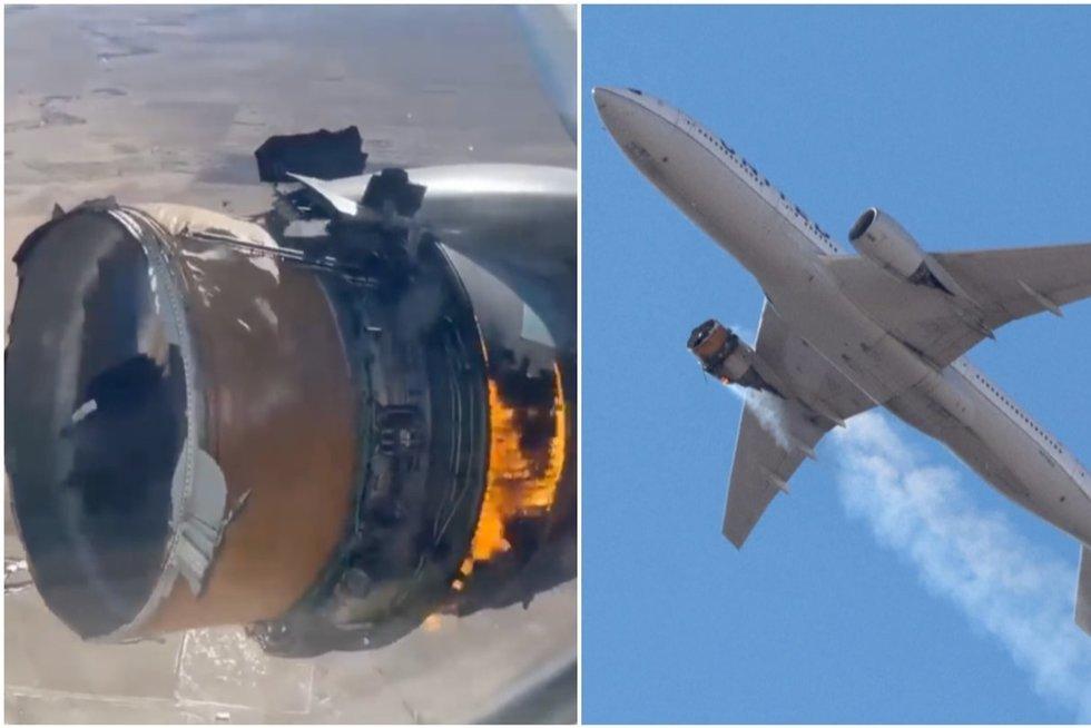 Keleivių košmaras: nufilmavo, kaip lėktuvas po pakilimo ėmė byrėti (nuotr. stop kadras)