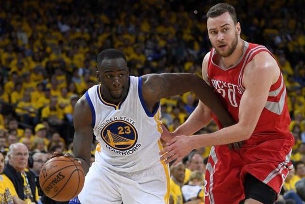 """Golden State Warriors"" vs  ""Rockets"" (nuotr. SCANPIX)"