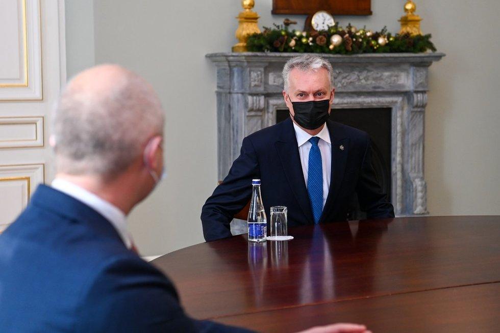 Kandidatai į ministrus susitinka su G. Nausėda (nuotr. Roberto Dačkaus)