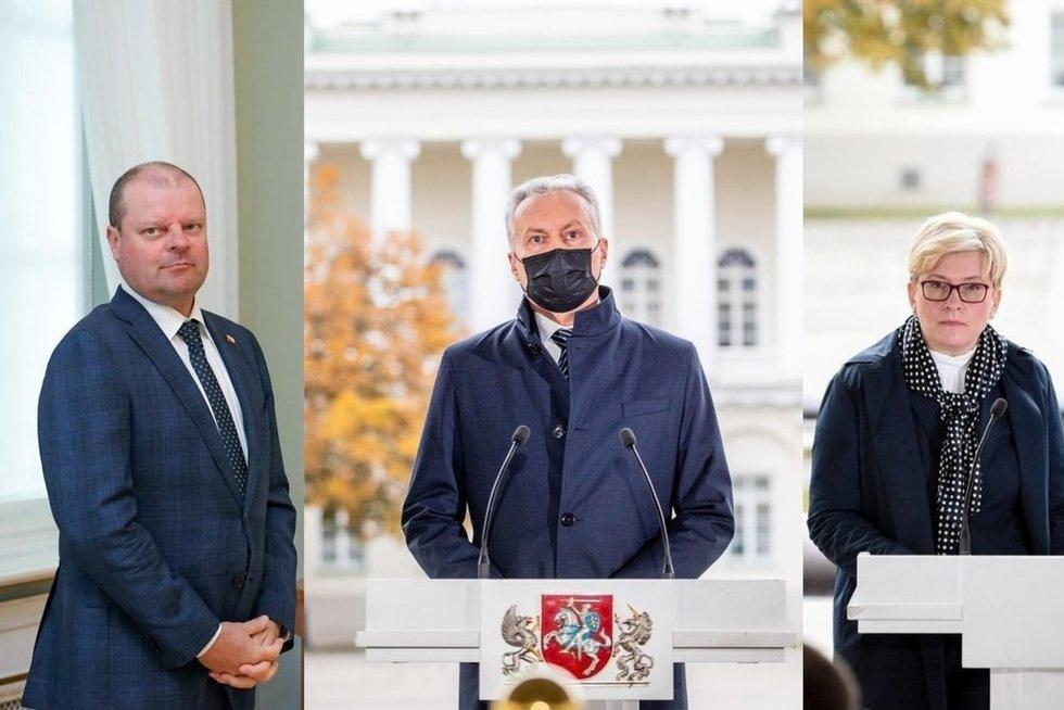S. Skvernelis, G. Nausėda ir I. Šimonytė (tv3.lt fotomontažas)