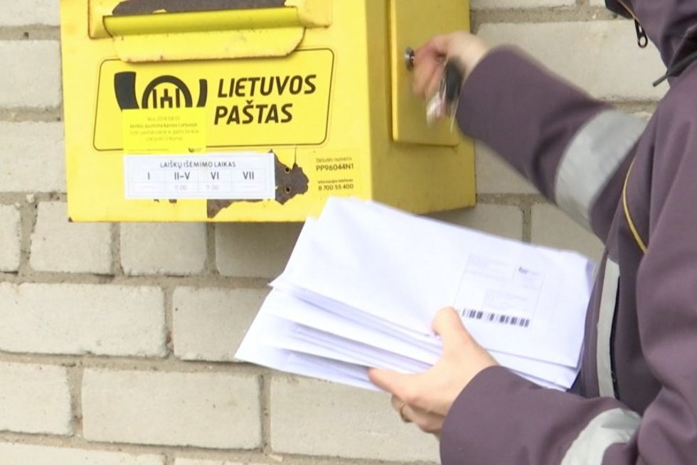 Lietuvos paštas (nuotr. stop kadras)