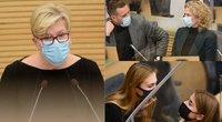 I. Šimonytė Seime pristato Vyriausybės programą (tv3.lt fotomontažas)