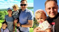 Nerijus Cesiulis su šeima (nuotr. Instagram)