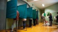 Lietuviai balsuoja rinkimuose (nuotr. Fotodiena/Justino Auškelio)