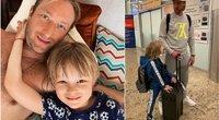 Jevgenijus Pliuščenko su sūnumi (nuotr. Instagram)