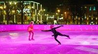 Lukiškių aikštėje atidaryta ledo čiuožykla (nuotr. Vilniaus miesto savivaldybės)