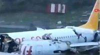 """Stambule nuo tako nuvažiavo ir perlūžo lėktuvas (nuotr. """"Twitter"""")"""