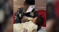 Išradingas tėtis sugalvojo, kaip pamaitinti verkiantį kūdikį: nustebino ne vieną