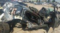 Kėdainių rajone per tragišką avariją sudaužyti automobiliai (nuotr. TV3)