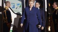 D. Grybauskaitė Hagoje (nuotr. SCANPIX)