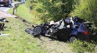 Mirtina avarija Trakų rajone: kelyje į Aukštadvarį žuvo opelio vairuotojas (nuotr. Broniaus Jablonsko)