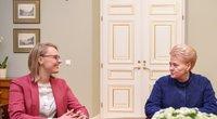 I. Gudžiūnaitė ir D. Grybauskaitė (nuotr. Fotodiena.lt)