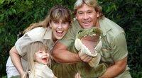 Steve'as Irwinas su šeima (nuotr. SCANPIX)