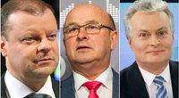Prezidento rinkimuose lietuviai nori balsuoti už S. Skvernelį, G. Nausėdą ir V. Matijošaitį