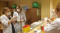 Vakcinacija Marijampolės ligoninėje (nuotr. stop kadras)