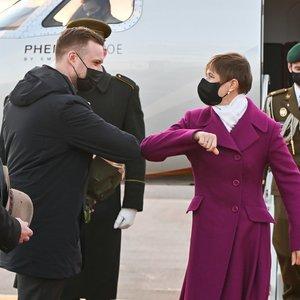 Estijos prezidentė atvyko į Lietuvą