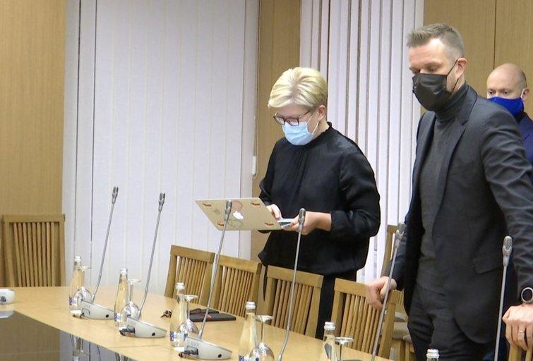 Ingrida Šimonytė ir Gabrielius Landsbergis (nuotr. stop kadras)