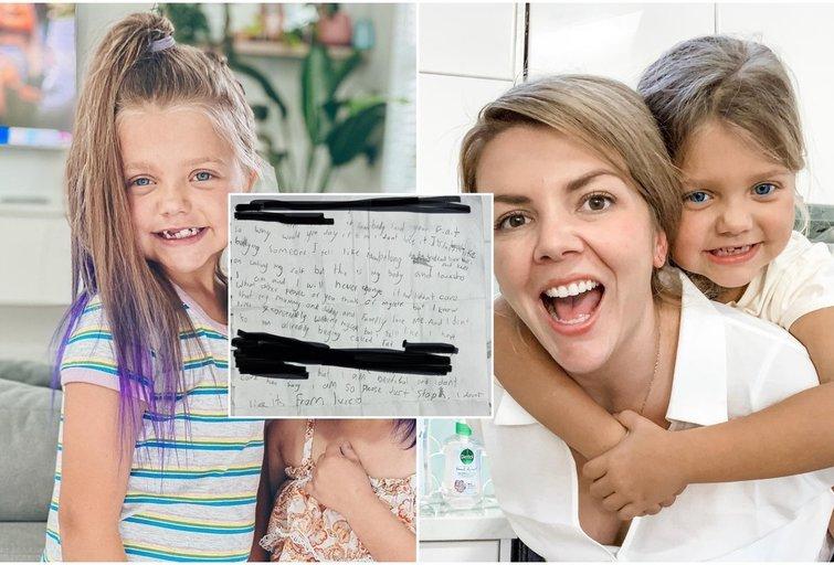 8-metės laiškas tapo internetiniu hitu (nuotr. facebook.com)