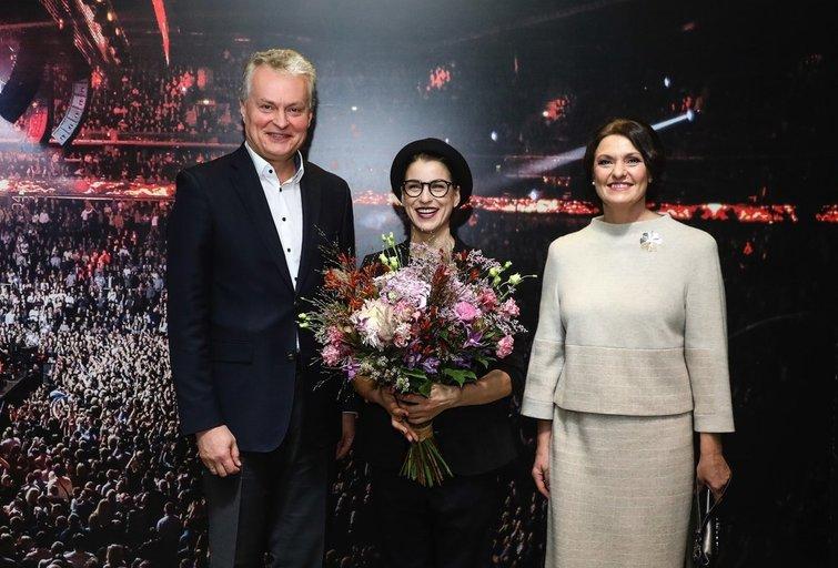 Asmik Grigorian koncerto akimirkos (nuotr. Organizatorių)