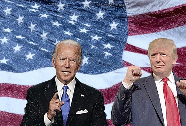 Joe Bidenas ir Donaldas Trumpas (tv3.lt fotomontažas)