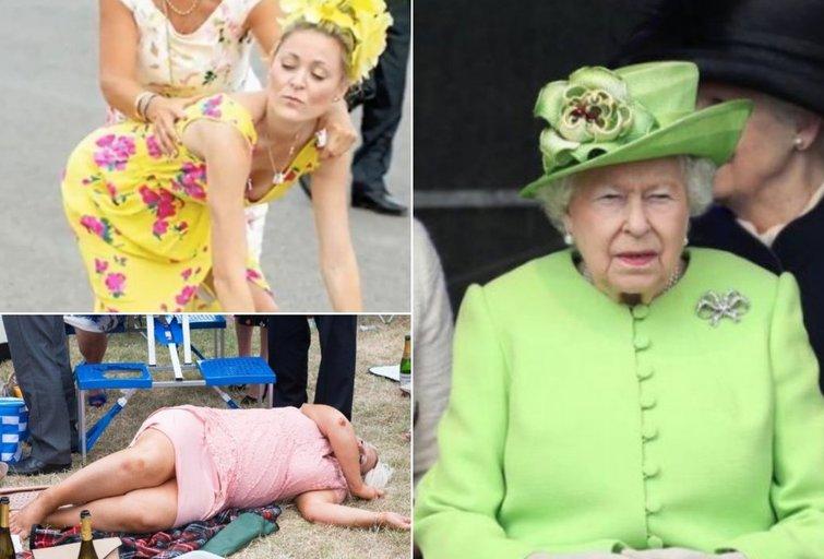 Karalienės akivaizdoje – gėdingi vaizdai:  girtos damos parodė, dėl ko pasaulis šlykštisi
