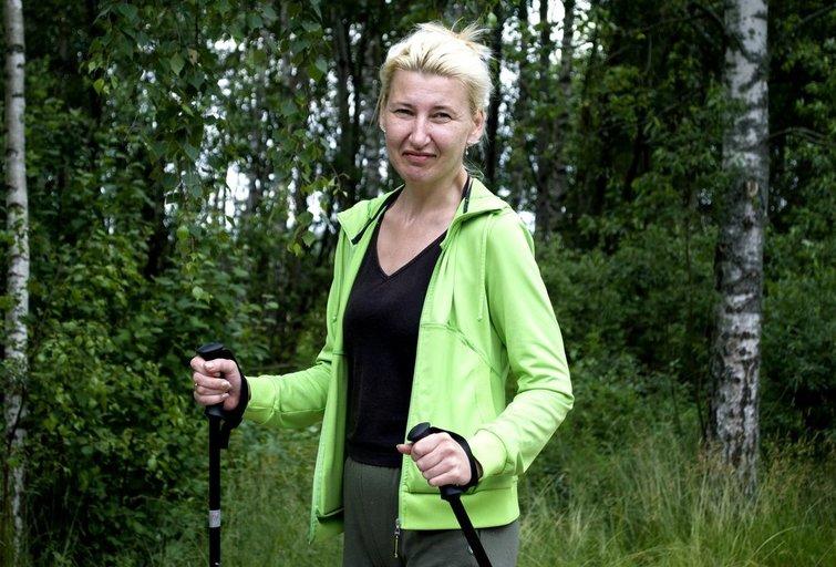 Rokiškietė Ina Babachina į stovyklą atvažiavo pirmą kartą gyvenime. Nijolės Zenkevičiūtės nuotr.