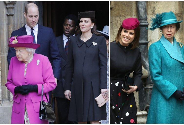 Britanijos karališkoji šeima dalyvavo Velykų mišiose (nuotr. SCANPIX)