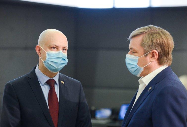 Aurelijus Veryga, Ramūnas Karbauskis (nuotr. Justinas Auškelis/Fotodiena)