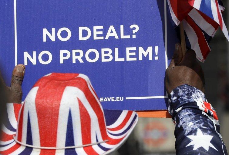 """Brexit"" melodrama: gresia iškritimas be susitarimo (nuotr. SCANPIX)"