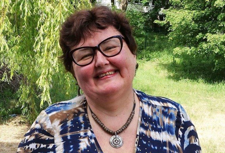 """Lietuvos specialiosios kūrybos draugijos """"Guboja"""" pirmininkė, Kultūros ir meno tarybos narė Viktorija Vitaitė. Aldonos Milieškienės nuotr."""