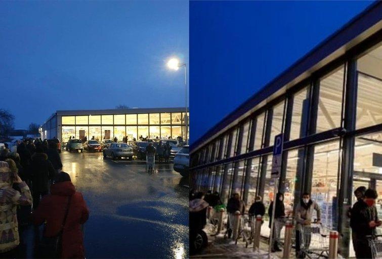 Vilniuje prie naujos parduotuvės nusidriekė eilės pirkėjų (tv3.lt fotomontažas)