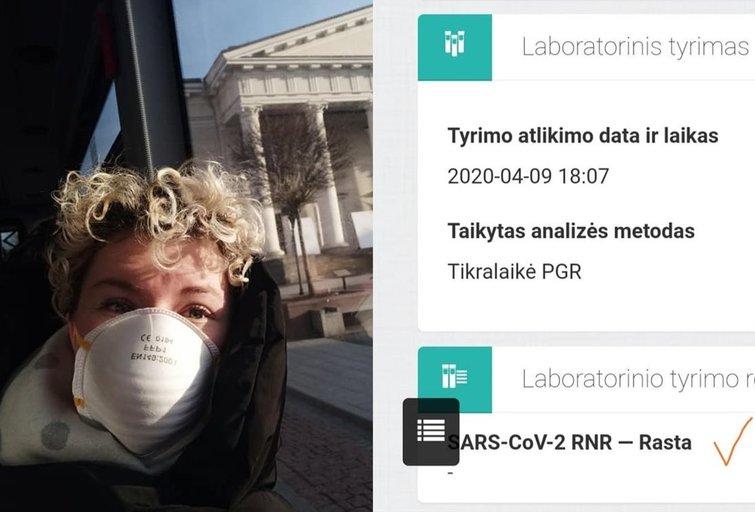 Ieva Labanauskaitė serga koronavirusu (nuotr. facebook.com)