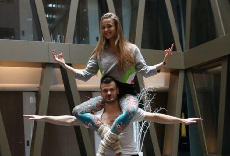 Milana Jašinskytė pademonstravo pratimus, skatinančius seksualumą ir jausmus (nuotr. Organizatorių)