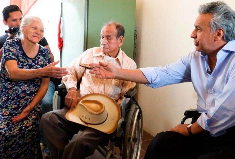 Ekvadoro prezidentas Leninas Bolteras Moreno Garsesas – itin populiarus politikas. Lenino Moreno asmeninio archyvo nuotr.