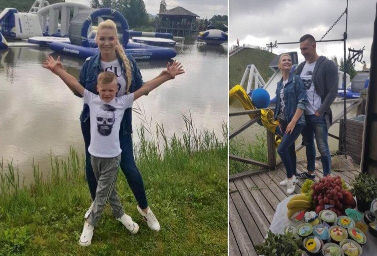 Natalijos Bunkės sūnus šventė gimtadienį (tv3.lt fotomontažas)