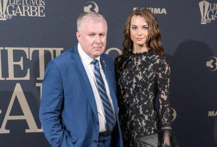 Lina Anušauskienė su vyru Arvydu Anušausku  Fotodiena/Arnas Strumila
