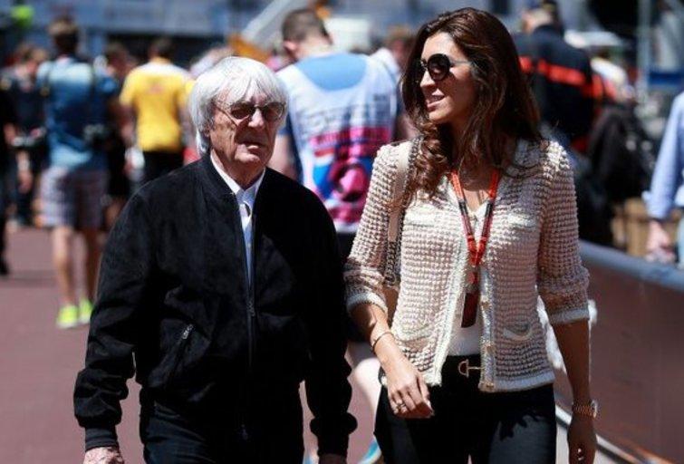 Bernie Ecclestone'as su žmona (nuotr. SCANPIX)