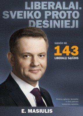 Liberalų rinkiminis plakatas (tv3.lt nuotr.)