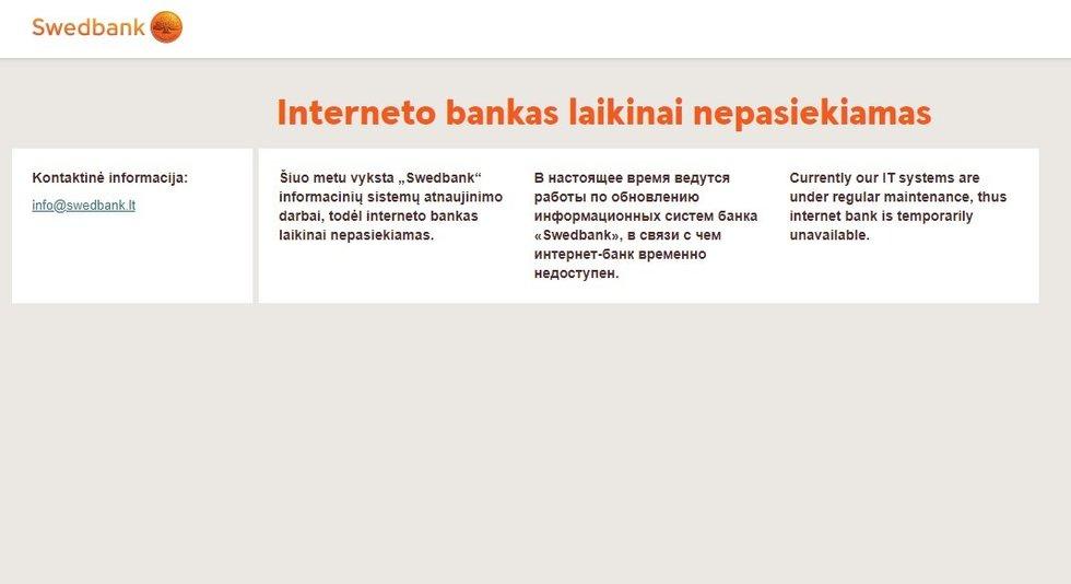 Swedbank interneto bankas