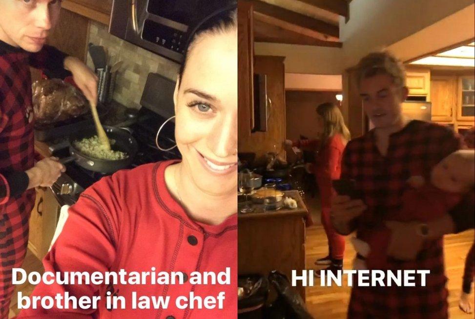 Katy Perry ir Orlando Bloomas (nuotr. Snapchat)